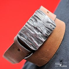 Gift for man Handmade Belt Buckle Leather belt with by KREDUM, $80.00