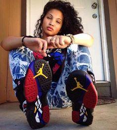Air Jordan 8 Playoff #ChicksInKicks#BadBitch