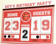 Basketball Birthday Favor Box Basketball Party by PixieBearParty Basketball Party Favors, Basketball Birthday Parties, Basketball Decorations, Basketball Scoreboard, Basketball Hoop, Basketball Bedroom, Man Birthday, Birthday Basket, Party Guests