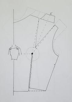 Pattern Drafting Tutorials, Easy Sewing Patterns, Clothing Patterns, Bodice Pattern, Collar Pattern, Sewing Lessons, Sewing Hacks, Pattern Cutting, Pattern Making