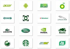 Top 20 Famous logos designed in green