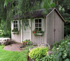 Die Gartenhütte vielseitig anwenden - 23 schöne Gartenhaus Ideen