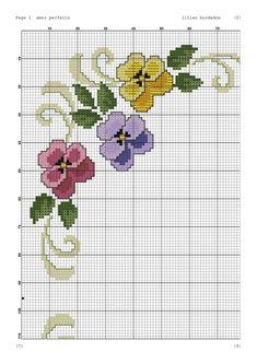 Myslíme si, že by sa vám mohli páčiť tieto piny - tonka. Cross Stitch Borders, Cross Stitch Flowers, Cross Stitch Designs, Cross Stitching, Cross Stitch Embroidery, Cross Stitch Patterns, Hand Embroidery Patterns, Embroidery Designs, Cross Art