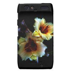 Yellow Lilies Glow Motorola Droid RAZR Cases