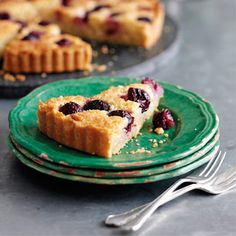 Cherry and almond tart recipe. For the full recipe, click the picture or visit RedOnline.co.uk