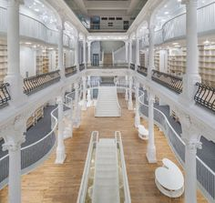 Stunning All-White Bookstore Opens In A Historic Building In Bucharest, Romania