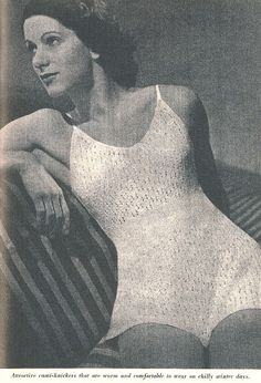 The VInatge Pattern Files Free 1940's Knitting Pattern - Cami-Knickers