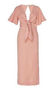 Get inspired and discover Cult Gaia trunkshow! Shop the latest Cult Gaia collection at Moda Operandi. Satin Mini Dress, Eyelet Dress, Pink Dress, Alondra, Linen Dresses, Women's Dresses, Evening Dresses, Printed Linen, Dress Silhouette