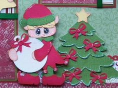 Trimming Tree / Christmas - 2 Premade Scrapbook Pages PAPER PIECING 4 Album
