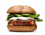 A Greek take on the classic burger! Try this delicious turkey burger with feta and red pepper!