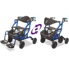 Rollator Walker, Transport Chair, Airgo Fusion, 700-935      BRAND NEW with manufacturer's warranty    Rollator Walker Transport Chair, Side Folding   Airgo Fusion     The two in one side-fold rolling walker and transport chair.    Quince Medical - 905.696.1976