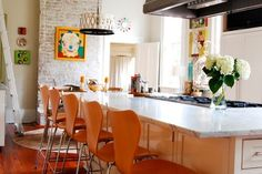 My Houzz: Colorful eclectic style in a traditional New Orleans home - eclectic - kitchen - new orleans - Corynne Pless