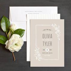 Lovely cream floral wedding invitation - so chic #wedding #rustic #chic…