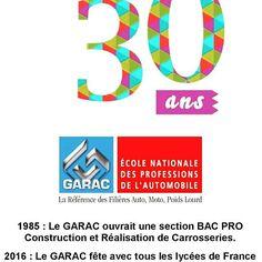 Demain Journée Portes Ouvertes au GARAC pour les 30 ans du BAC PRO de 9h à 15h ! #JPO #GARAC
