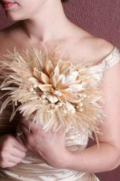 feather bouquets at inwhite.nl