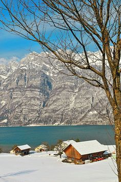 The Walensee, Mols, St Gallen, Switzerland