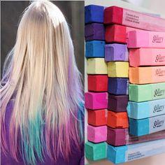 6/12/24/36 Ungiftig Haarkreide Haartönung Färben Haar Kreide Hairchalk Mode. Einfach nur genial!