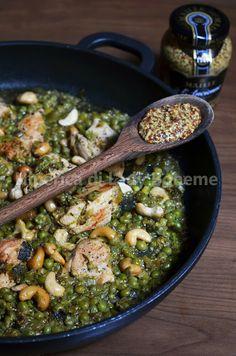 Pollo agli anacardi e senape di Digione