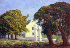 JH Pierneef, Oil on canvas, 350 x 505 mm , The Slave Bell Mural Painting, Artist Painting, Paintings, South African Artists, Landscape Artwork, Art Photography, Original Art, Art Gallery, Masters