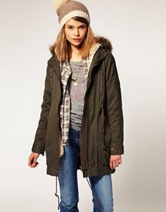 ASOS Parka With Detachable Faux Fur Lining from asos.com, once again though, I'd lose the hat.