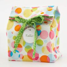 Easy-to-Sew Reusable Gift Bag - for when i learn to sew