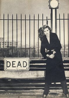 """The famous """"Dead"""" shot of Gia Carangi by Andrea Blanch, 1978."""