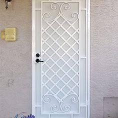 Wrought iron security screen door. - Yelp
