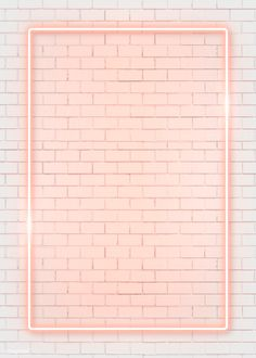 Rectangle orange neon frame on an orange brick wall vector premium image by manotang Framed Wallpaper, Pink Wallpaper Iphone, Iphone Background Wallpaper, Pastel Wallpaper, Tumblr Wallpaper, Aesthetic Iphone Wallpaper, Iphone Wallpapers, Aesthetic Wallpapers, Cute Wallpapers