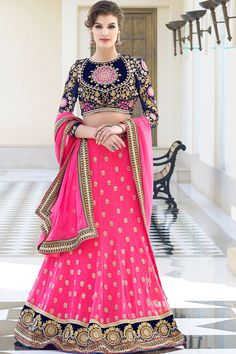 Shop For Indian Lehenga Choli at Utsav Fashion - The largest online collection of lehenga, ghagra, chaniya choli in latest stunning designs. Ghagra Choli, Lehenga Choli Online, Bridal Lehenga Choli, Wedding Lehnga, Wedding Dresses, Punjabi Wedding, Sharara, Wedding Outfits, Sarees Online