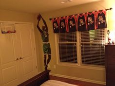 Jersey Curtains.   my favorite repurpose blog: That Was A What?!: Hoop Dreams $16 Custom Window Treatments