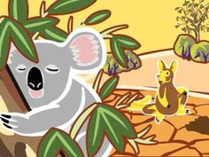Aboriginal Dreamtime Story - Why Koala Has a Stumpy Tail and other great videos Aboriginal Education, Indigenous Education, Aboriginal Culture, Indigenous Art, Australian Animals, Australian Art, Aboriginal Dreamtime, Naidoc Week, Australian Aboriginals