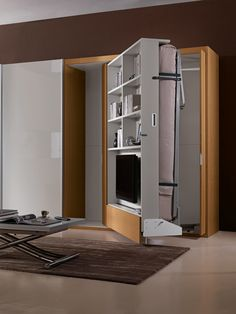 Wall bed - Jolly with TV shelving