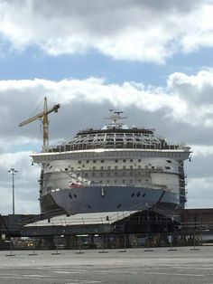 Work on the Harmony of the Seas' Solarium progresses.