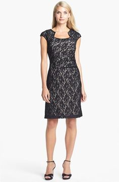 Tahari Embellished Lace Sheath Dress available at #Nordstrom