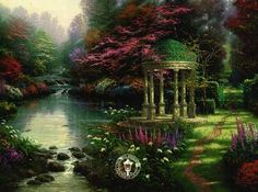 Thomas Kinkade Garden of Prayer Artist Proof Paper Mint s N with COA | eBay