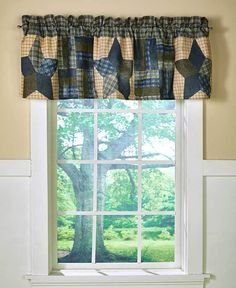 """COUNTRY STAR VALANCE WINDOW DRESSING 60""""W x 18""""L POLYESTER #Unbranded #COUNTRY"""
