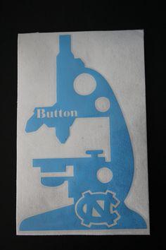 UNC Tarheels Microscope Monogram Vinyl Decal by EntropySigns