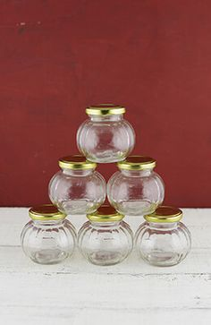 8.99 SALE PRICE! Use these squat Bubble jars for candy bar treat holders- These little jars come as a pack of 6 and each hold about...