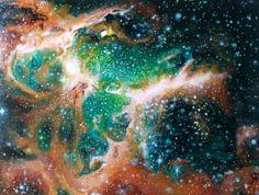Eagle Nebula  Acrylic on Canvas by Sarah by SarahMoralesFineArts, $1289.00