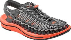 The women's UNEEK sandal by KEEN uses an innovative two-cord construction that molds to your feet.