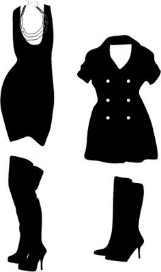 clothes silhouettes - Google Search