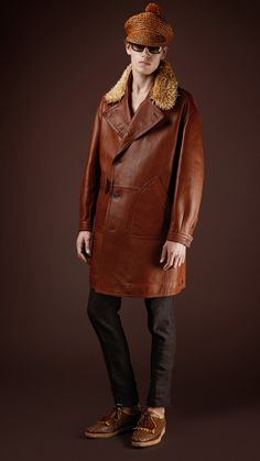 Burberry Prorsum mens bonded leather trench coat 1