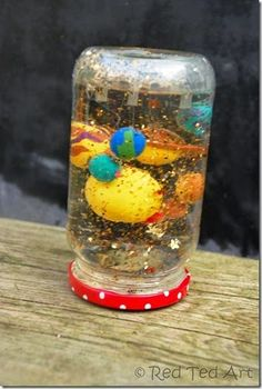DIY Solar System Snow Globe It combines so many elements I love… Polymer clay, creativity, glitter, and science. Kid Science, Science Classroom, Science Activities, Science Projects, Science Experiments, School Projects, Activities For Kids, Space Activities, Space Projects