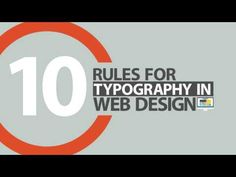 Watch: 10 Rules Of Typography To Follow When Designing A Website - DesignTAXI.com