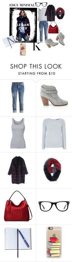 """""""Edgy Minimal"""" by tammydevoll ❤ liked on Polyvore featuring LIU•JO, rag & bone, Splendid, Dorothy Perkins, Gucci, Muse, Smythson, Casetify, women's clothing and women"""