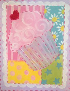 All that is lovely, romantic, and beautiful can be found in this collection! Precious and perfect for any party! Canvas And Cocktails, Cupcake Party, Cupcakes, Romantic, Quilts, Sewing, Drawings, Beautiful, Paintings