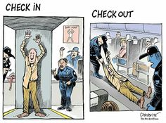 The airline experience just got worse - © Chappatte in The New York Times Opinion Section