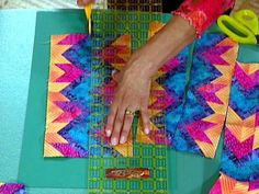 Simply Quilts, Tube Quilts Part Two, Rita Hutchens Tubular Strip Piecing. See Part one: http://videos.hgtv.com/video/psychedelic-tubes-0124515