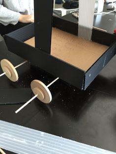 Nous avons terminer la base les roue sont stable et nous avons ajouter un pivot Ajouter, Science Projects, Science Fair Projects