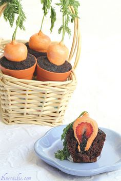 Recipe for Stuffed Carrot Garden Cupcakes
